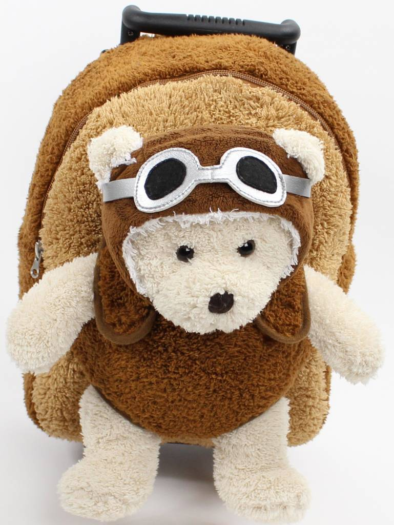 AVIATOR BEAR ROLLING TROLLEY BACKPACK