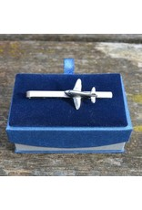 DC3 Plane Pewter Tie Clip (Slide/Bar)