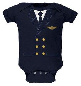 Pilot Uniform Baby Bodysuit Onesie (Navy)