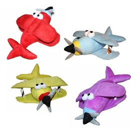 Bi Plane Squeeky Plush (Yellow)