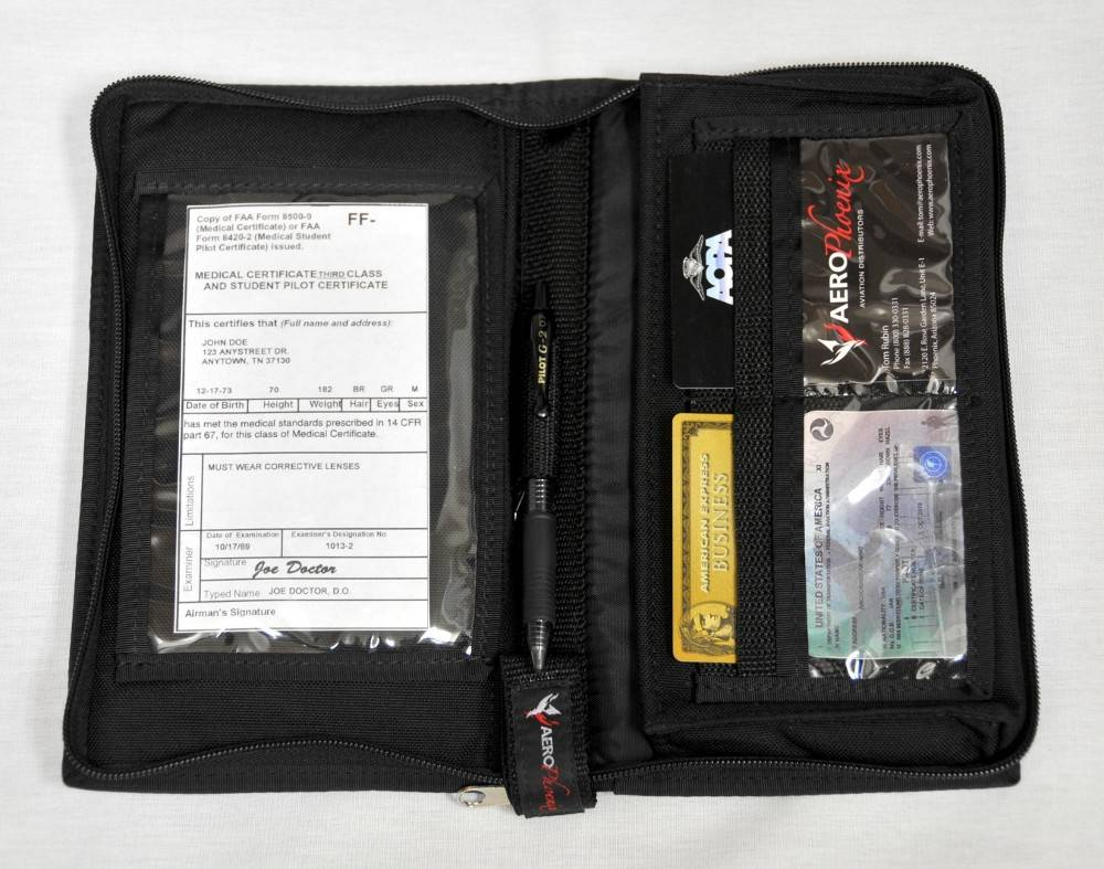 ZIPPERED LOGBOOK COVER, STANDARD, BLACK