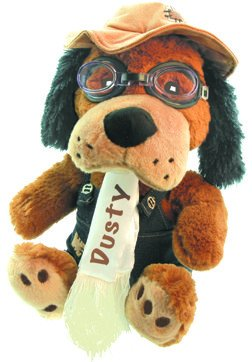 DUSTY DOG Stuffed Aviator