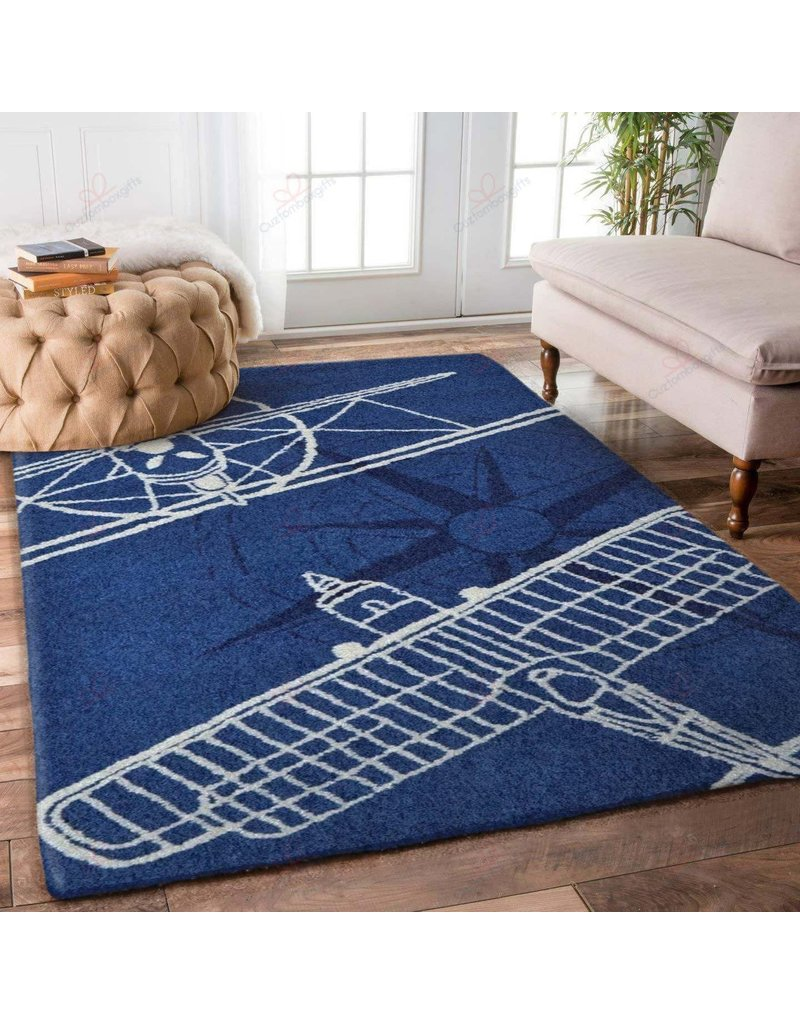 AIRPLANES BLUE SIMPLE GS RUG XL