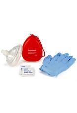 AMBU® Rescue Mask w/ Hard Case, Valve/Filter, Gloves & Wipe