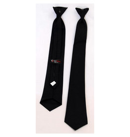TIE, CLIP-ON, XL, BLACK, POLYESTER WOOL BLEND