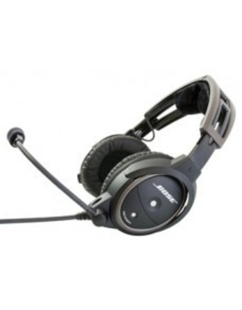 A20 Aviation Headset W Bluetooth Battery Powered Electret Mic Straight Cord Twin Plug Pilot Outfitters