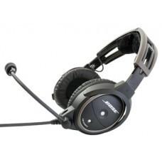 BOSE A20® Aviation Headset w/bluetooth/battery powered/electret mic/straight cord/twin plug