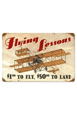 METAL SIGN - FLYING LESSONS