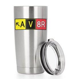 AV8R MUG, DOUBLE WALL VACUUM INSULATED STAINLESS STEEL TUMBLER, MUG