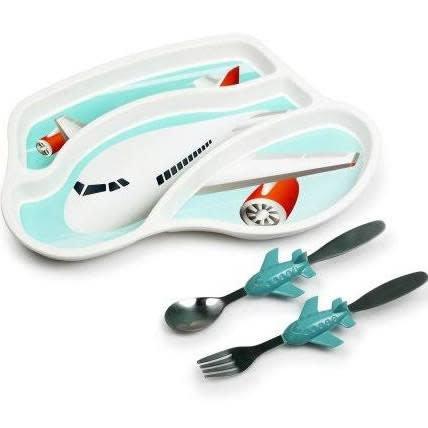KidsFunwares Me Time Jet Plane Toddler Dinnerware Set