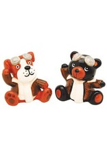 DOG AND BEAR AVIATOR SALT AND PEPPER SHAKERS