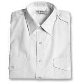 VAN HEUSEN Men's Aviator Style Shirt (White / Short Sleeved)
