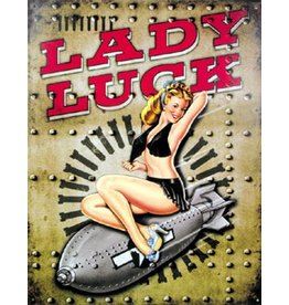LADY LUCK TIN SIGN