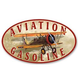 METAL SIGN - AVIATION GASOLINE
