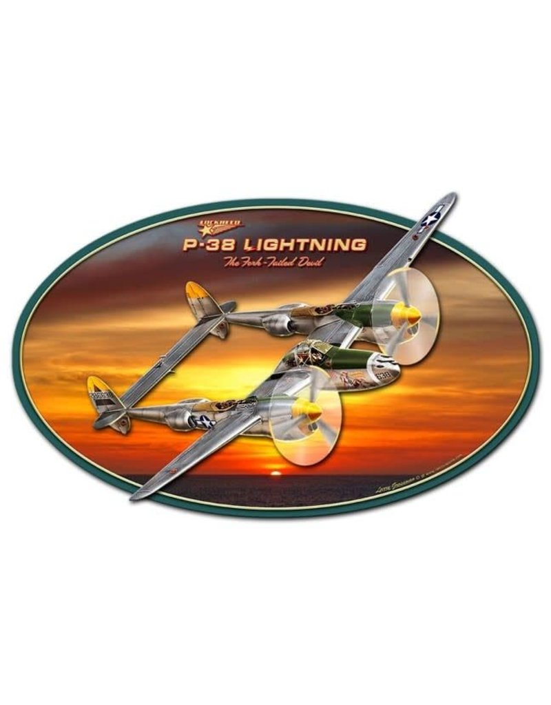P-38 Lightning 3D Sign