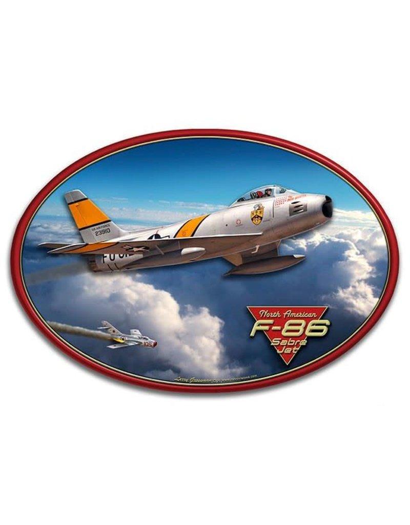 North American F-86 Sabre Jet 3D Sign