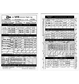 VFR-100 FLIGHT LOG PAD
