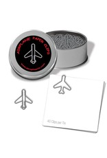 Jet Airplane Paper Clips (silver)