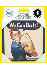 ROSIE THE RIVETER Stone Coasters (Set of 4)