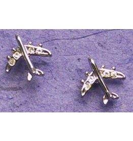 Silver Crystal Jet Earrings
