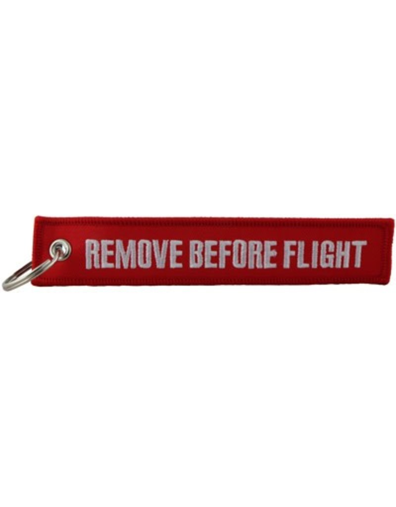 REMOVE BEFORE FLIGHT KEYCHAIN (EMBROIDERED)