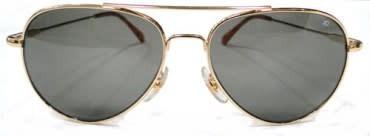AO Eyewear General Gold Frames Sunglasses, Bayonet Temples
