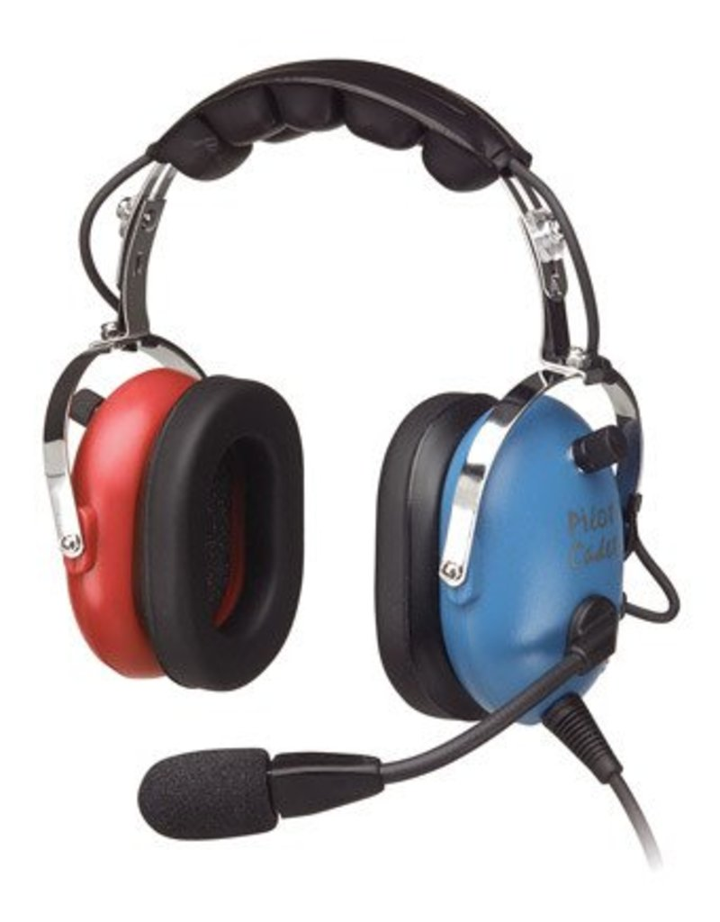 Pilot USA P-1151ACB Pilot Cadet Headset - Blue/Red