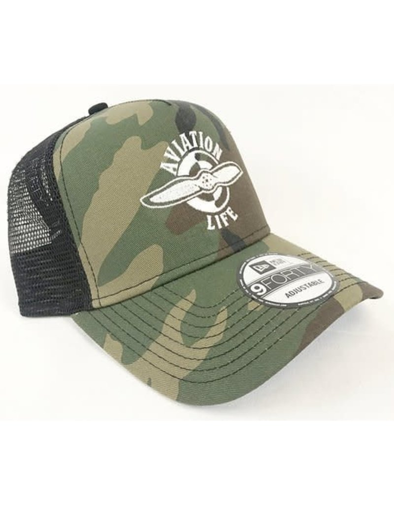 AVIATION LIFE TRUCKER HAT, CAMO
