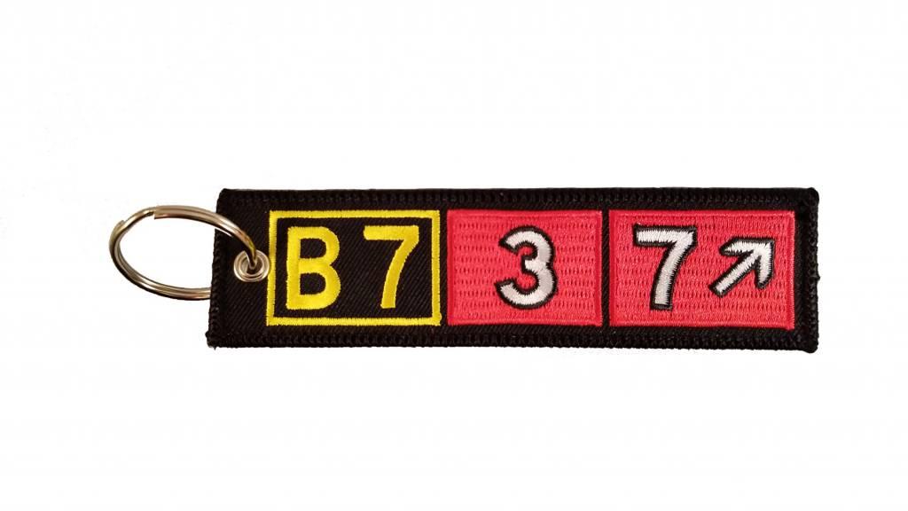 BOEING 737 Embroidered Keychain