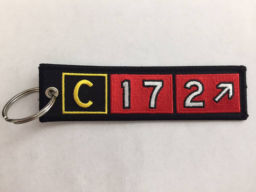 CESSNA 172 Embroidered Keychain
