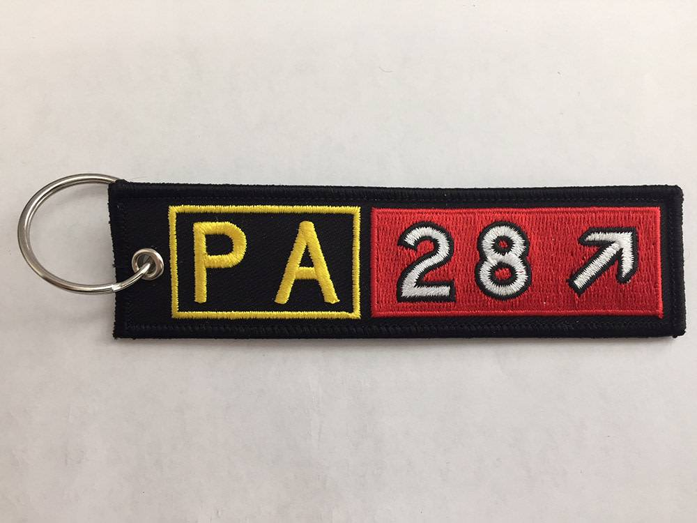 PIPER CHEROKEE Embroidered Keychain