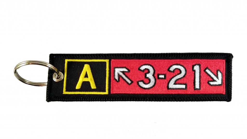 AIRBUS A321 Embroidered Keychain