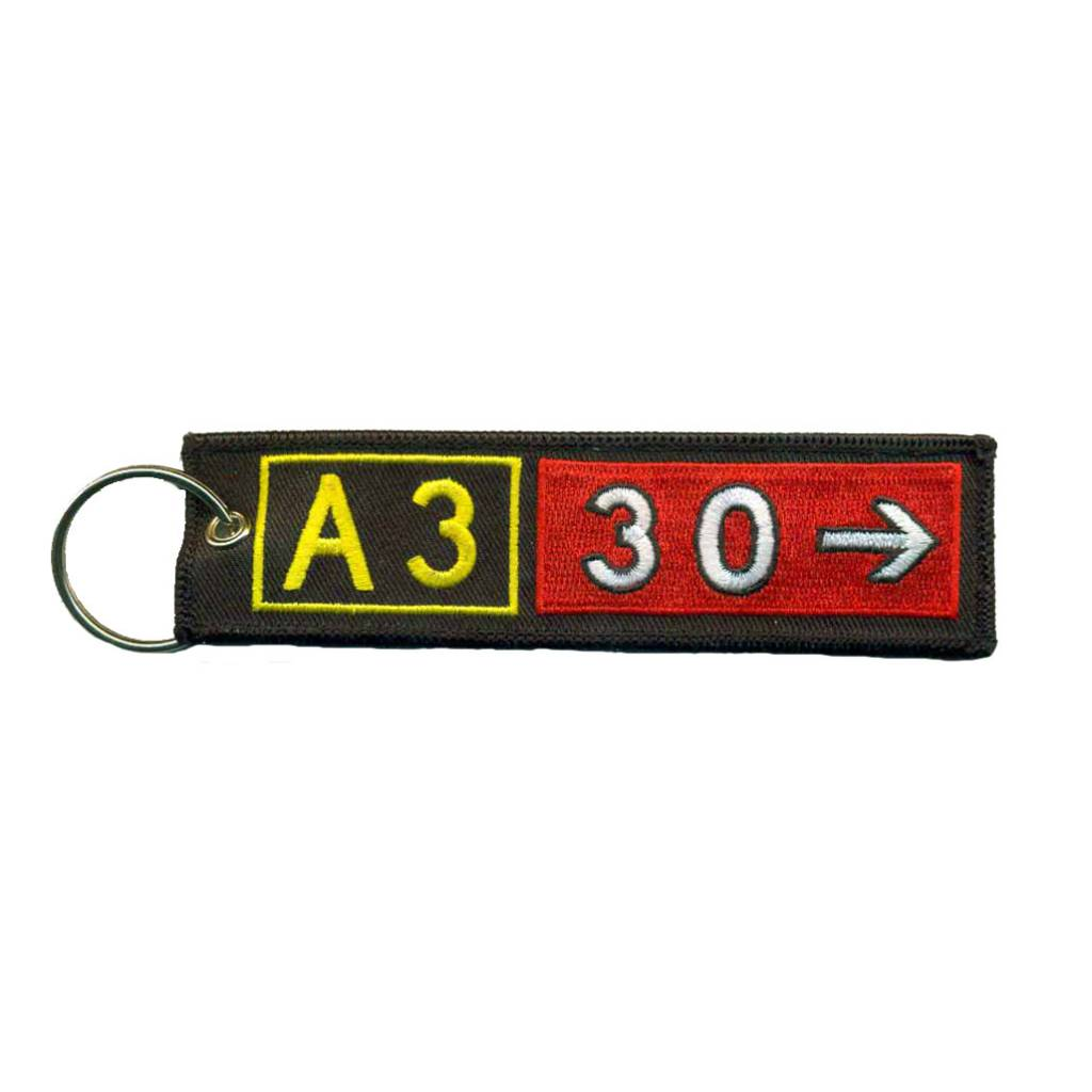 AIRBUS A330 Embroidered Keychain