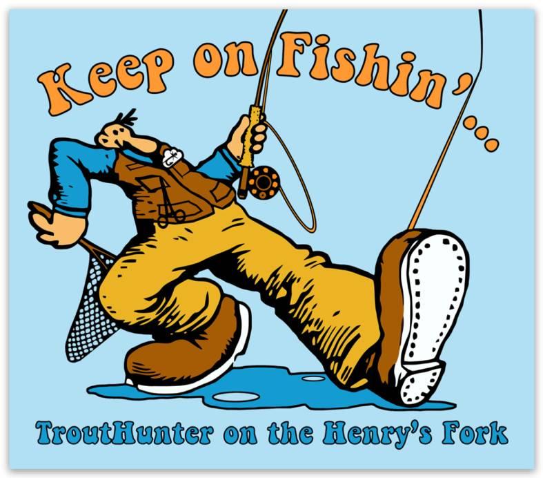 Keep On Fishin' Sticker