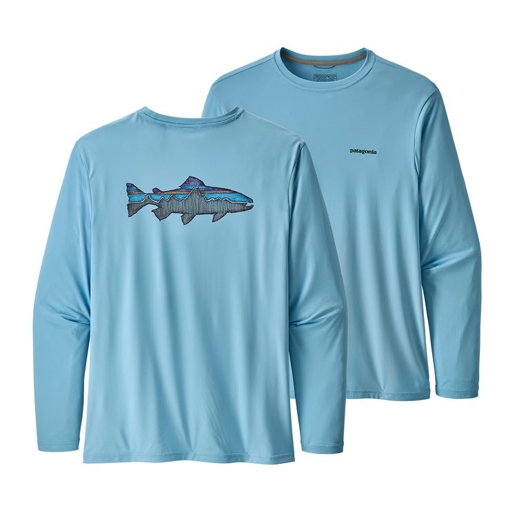 Patagonia Patagonia L/S Cap Cool Daily Fish Graphic Shirt