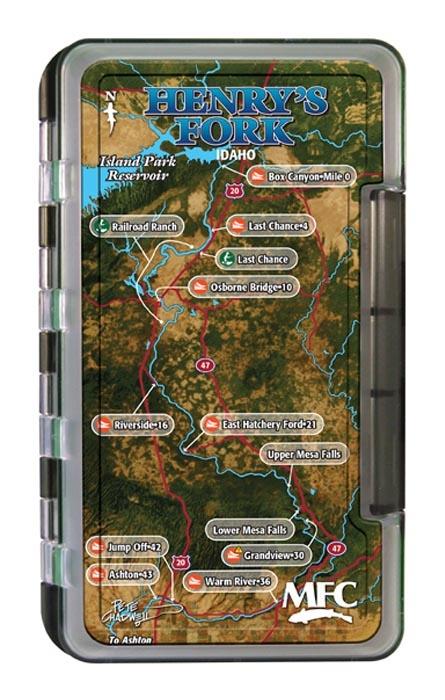 Montana Fly Company MFC Waterproof Fly Box - Henry's Fork Map