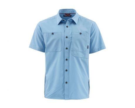 Simms Fishing Simms M's Double Haul S/S Shirt - Faded Denim