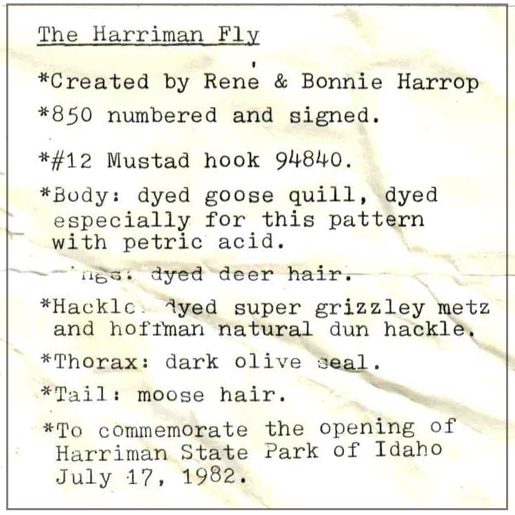 1982 Harriman Commemorative Flies