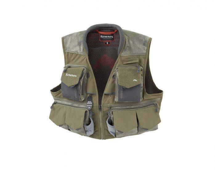 Simms Fishing Simms Guide Vest - Camo Loden