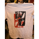 Katorga Works Nadine Rosario - T Shirt Red & White Medium