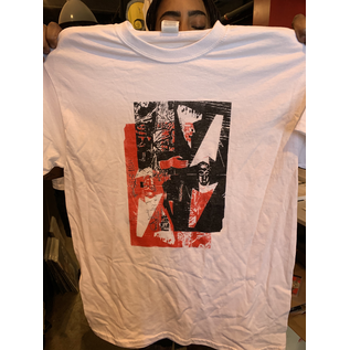 Katorga Works Nadine Rosario - T Shirt Red & White Medium
