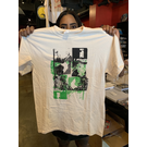 Katorga Works Nadine Rosario - T Shirt Green & Off White Medium