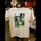 Katorga Works Nadine Rosario - T Shirt Green & Off White Large