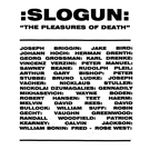 Hospital Productions Slogun - The Pleasures Of Death 2xLP
