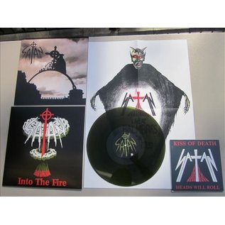"""Buried By Time and Dust Satan - Into the Fire LP + Kiss of Death 7"""""""