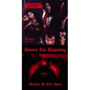 Nuclear War Now! Productions Doomed & Disgusting/Sadistik Exekution - Murder In the Dark/Suspiral Demo 1991 7""