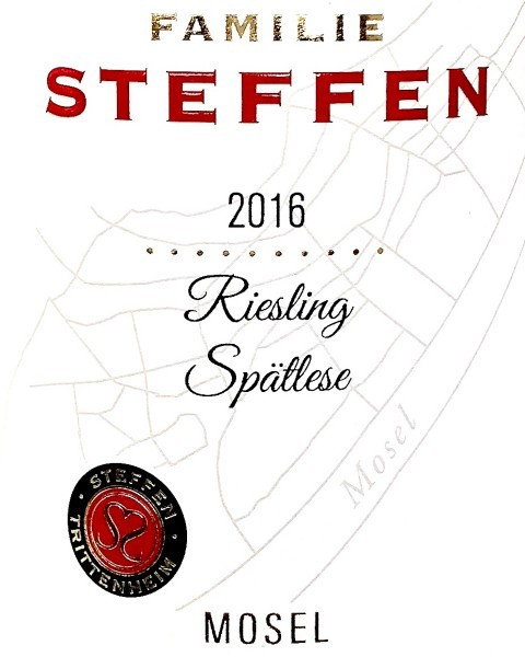 German Wine Famille Steffen Riesling Spatlese Mosel 2016 750ml