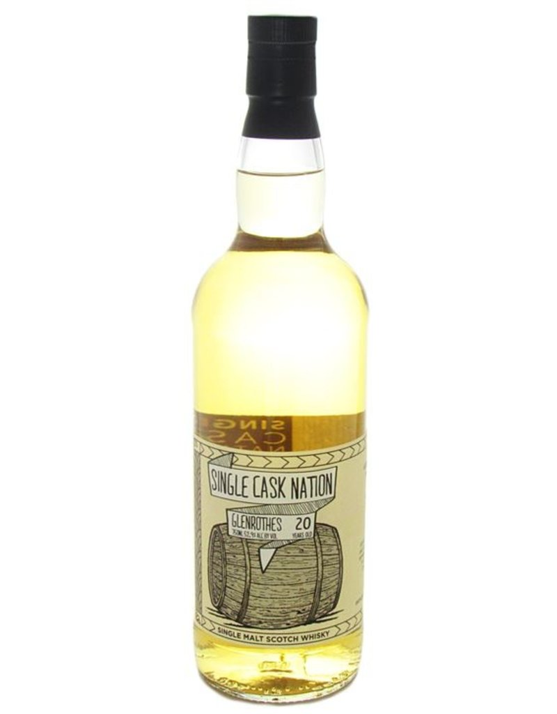 Single Cask Nation Glenrothes 20 year Single Malt Scotch 52.9% 219 bottles produced 750ml