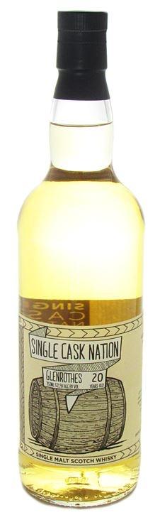 Scotch Single Cask Nation Glenrothes 20 year Single Malt Scotch 52.9% 219 bottles produced 750ml