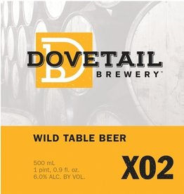 Beer Dovetail Brewery X02 Wild Table Beer 500ml